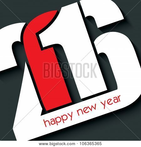 2016 Happy New Year Greeting Card Design