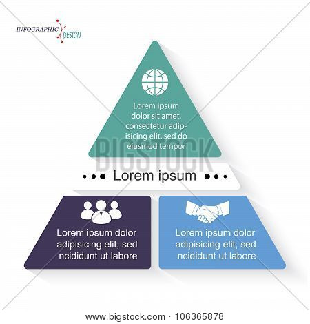 Vector Triangle Infographic Template Can Be Used For Business Presentation,  Chart, Web Design
