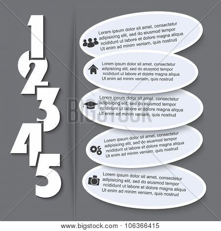 Vector Infographic With Numbers Can Be Used For Web Design, Business Brochure, Presentation Template