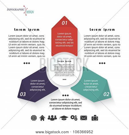 Vector Infographic Template With Three Arrows Can Be Used For Business Presentation,  Chart