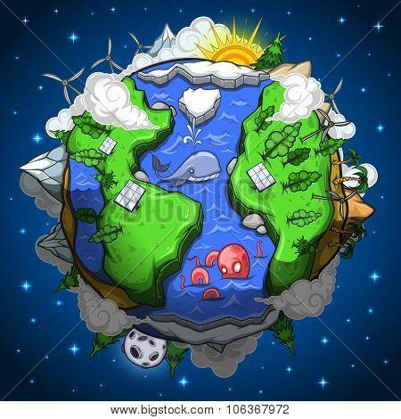 Environmentally friendly earth planet