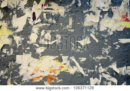 Old advertisement Board, abstract background.