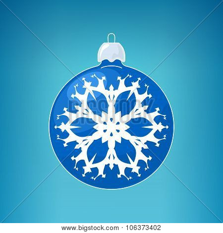 Blue Ball With Snowflake