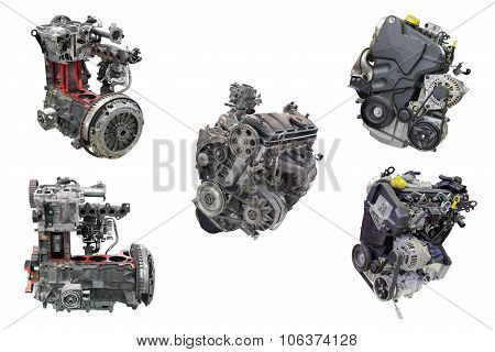 set of automotive engines