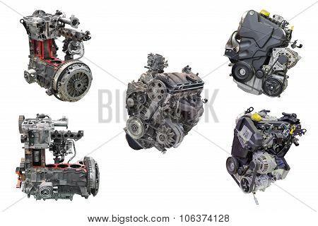 set of automotive engines