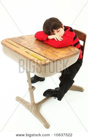 Student Child Sleeping Desk School