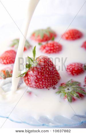 Strawberries And Milk