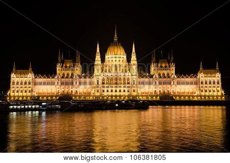 The building of the Hungarian Parliament.