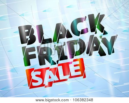 Black Friday Sale Title With Broken Text Effect