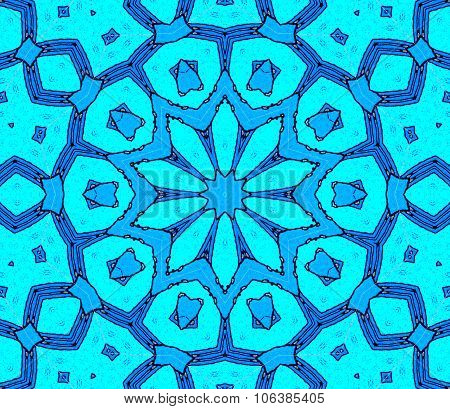 Seamless ornament blue turquoise