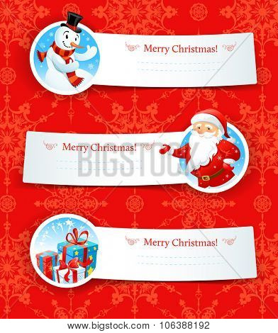Christmas banners. Design for card, banner, invitation, leaflet and so on.