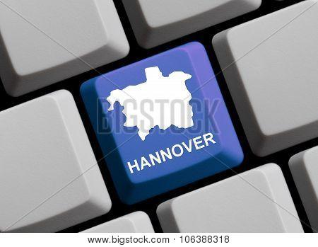 Computer Keyboard - Outline Of Hannover German