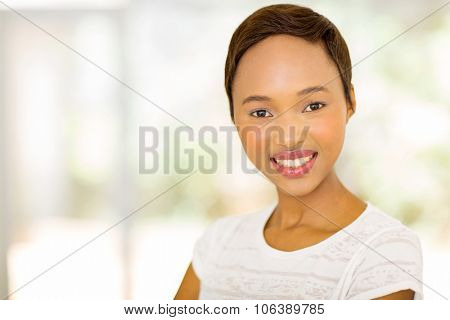 gorgeous afro american woman looking at the camera