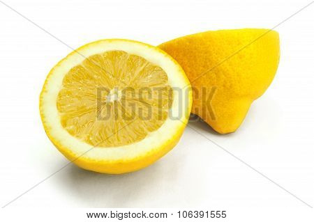 Lemon Cut Isolated On White Background