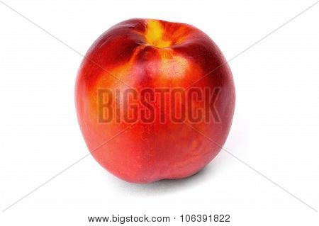 Peach Nectarine Isolated On A White Background