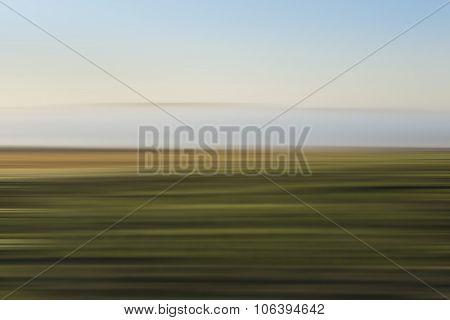 Motion Blur, The Colors Of Rural Landscape.