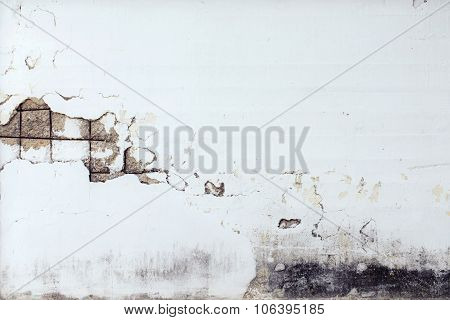 concrete wall cracked for background