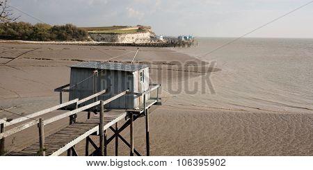 Fishing Cabin In The Estuary