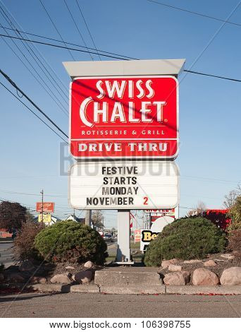 Swiss Chalet Sign