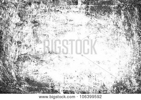Grunge Background, Old Frame Black And White Texture, Gray Dirty Paper Design