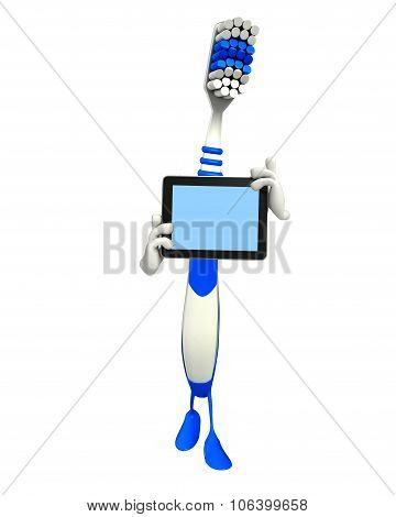 Toothbrush Character With Tab