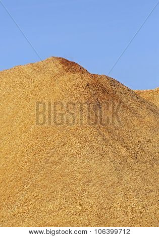 Wood Chips Sawdust Pile Vertical