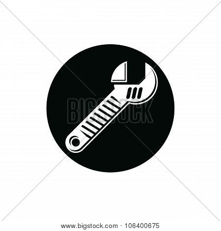 Adjustable Wrench Isolated On White, Repair Tool 3D Vector Icon. Manufacture Theme Design Element, D