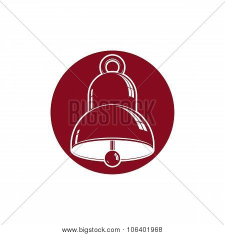 3D Stylish Bell Isolated On White. Detailed High Quality Illustration. 3d Design Element