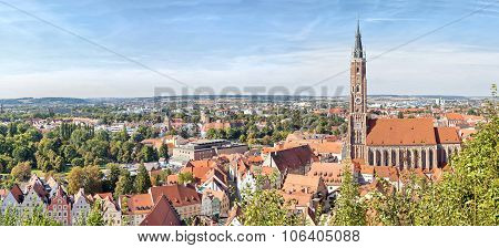 Panoramic Aerial View Of Landshut
