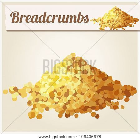 Bread crumbs. Detailed Vector Icon