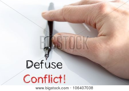 Defuse Conflict Text Concept
