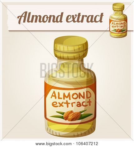 Almond extract. Detailed Vector Icon