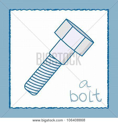 A Bolt - Vector Illustration