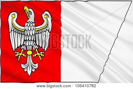 Flag Of Greater Poland Voivodeship In West-central Poland