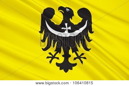 Flag Of Lower Silesian Voivodeship Or Lower Silesia Province In Poland