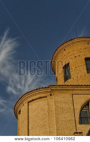 Apse Of Church With Sky
