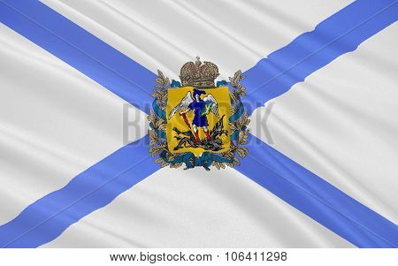 Flag Of Arkhangelsk Oblast, Russian Federation