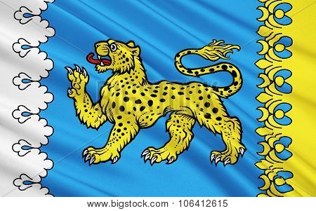 Flag Of Pskov Oblast, Russian Federation