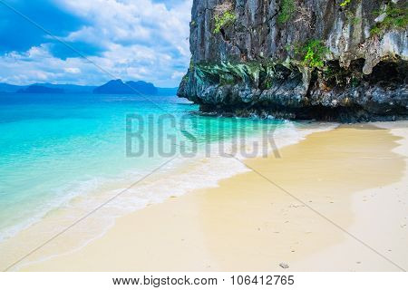 Beautiful Tropical Beach And Mountain Islands