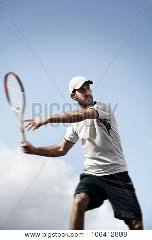 male tennis player in action