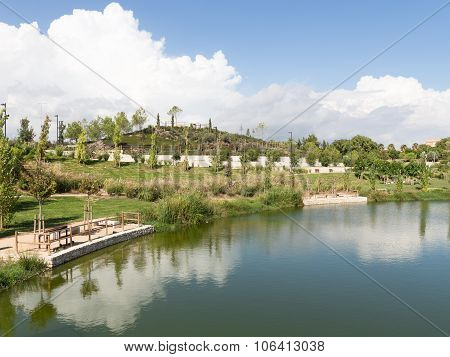 A Beautiful Landscaped Park In Alicante