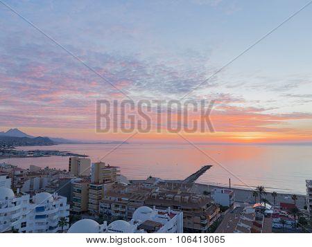 Beautiful Dawn In El Campello