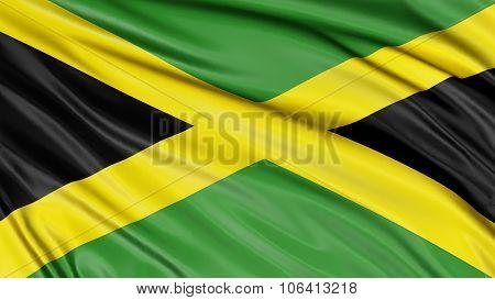 3D Jamaican flag