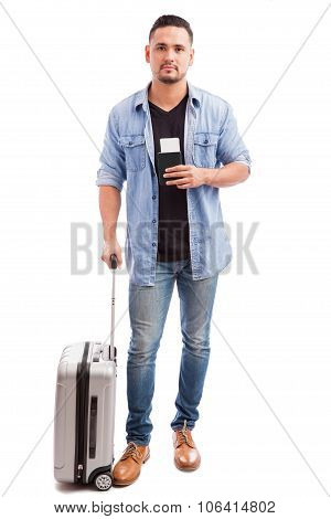 Young Man Going On A Trip