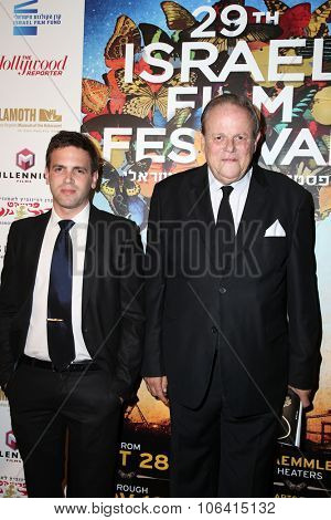 LOS ANGELES - OCT 28:  Amir Wolf, Itzhak Wolf at the 29th Israel Film Festival - Opening Night Gala at the Saban Theatre on October 28, 2015 in Beverly Hills, CA