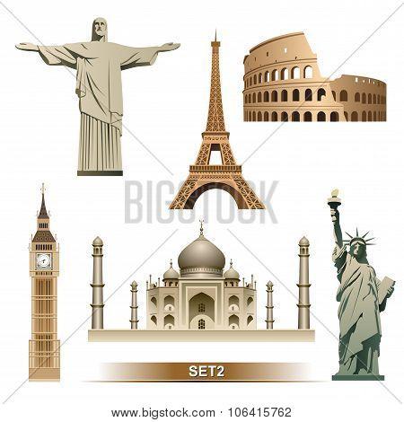 World Landmark icon set2