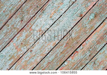Fragment Of The Surface Of The Old Wooden Planks On A Diagonal Frame