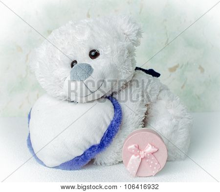 Teddy bear and gift boxes