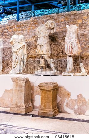 Vid, Croatia - January 27: Permanent Exhibition In Museum That Was Built On Site Of Ancient Roman Te