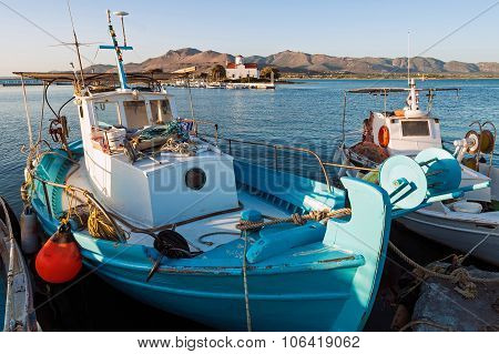 Fishing Boats In Greece